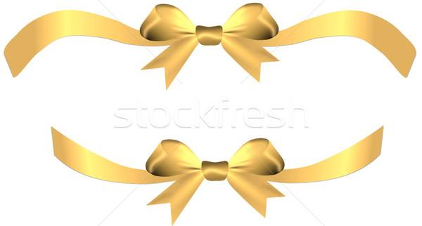 Cetim dourado arco dom coração Foto stock © impresja26