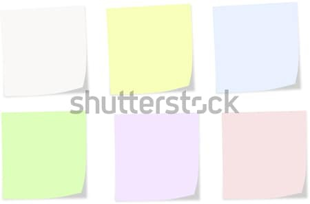 Soft colors notes on a white background Stock photo © impresja26
