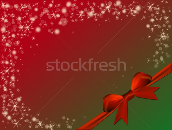 Christmas Rood boeg groene hoek gelukkig Stockfoto © impresja26