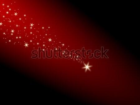Stockfoto: Vallen · star · Rood · brand · achtergrond · kunst