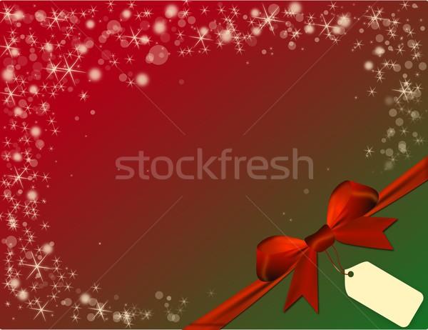 Natal vermelho arco verde canto preço Foto stock © impresja26