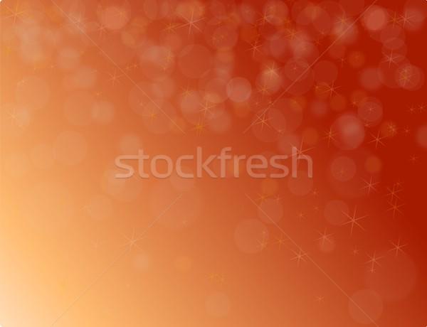 Soyut kırmızı Noel bokeh Yıldız sanat Stok fotoğraf © impresja26