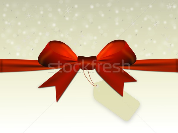 Brilhante bege vermelho arco etiqueta texto Foto stock © impresja26