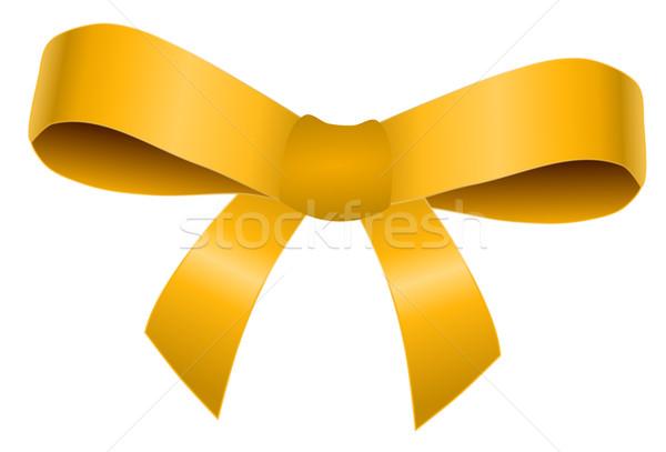 Dourado arco isolado branco amor aniversário Foto stock © impresja26