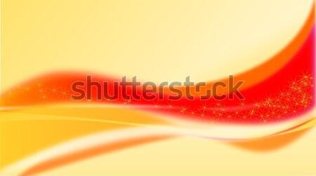 Abstrato onda laranja natal ilustração vermelho Foto stock © impresja26