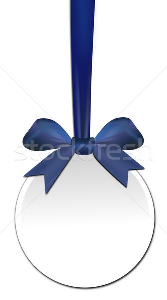 Decorativo azul arco branco papel aniversário Foto stock © impresja26