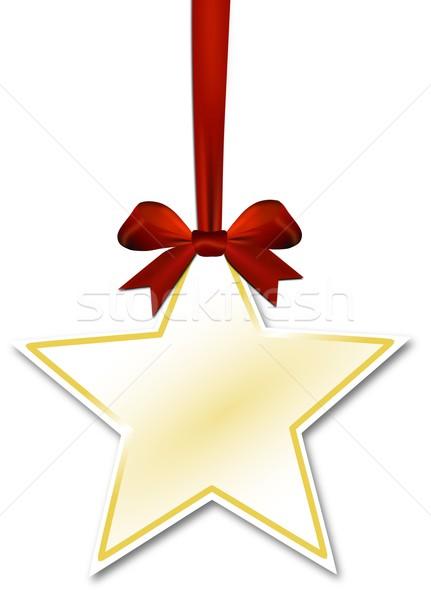 Decorativo estrela vermelho arco branco papel Foto stock © impresja26