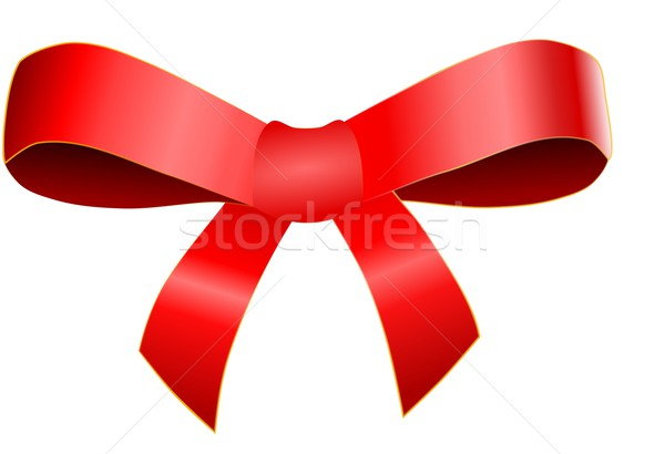 Vermelho arco isolado branco aniversário fundo Foto stock © impresja26
