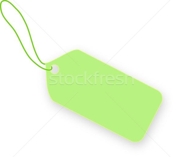 Açık yeşil etiket beyaz ışık alışveriş altın Stok fotoğraf © impresja26
