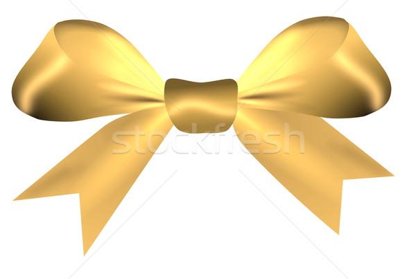 Dourado arco isolado branco cetim páscoa Foto stock © impresja26