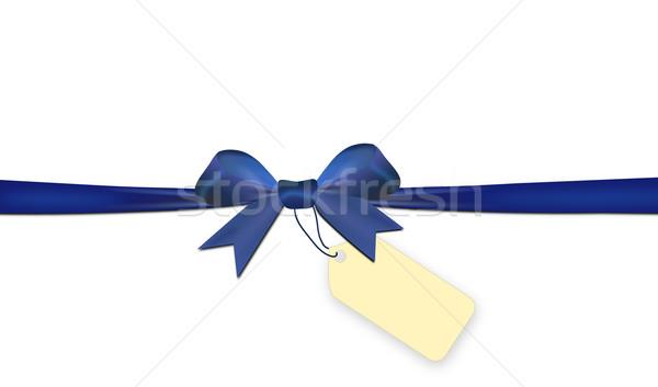 Mavi yalıtılmış beyaz fiyat etiket kâğıt Stok fotoğraf © impresja26