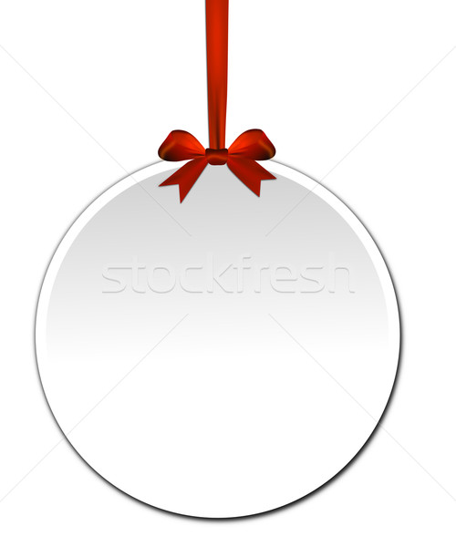 Decorativo vermelho arco branco papel festa Foto stock © impresja26