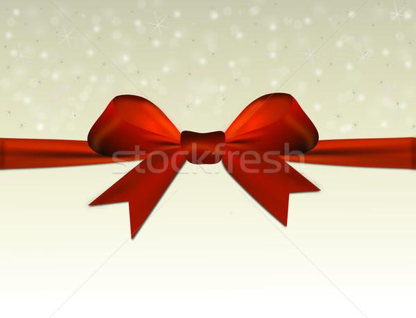 Brilhante bege vermelho arco texto espaço Foto stock © impresja26