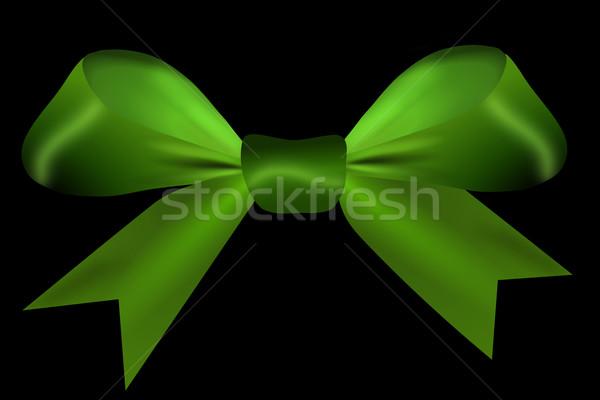 Verde arco isolado preto papel festa Foto stock © impresja26