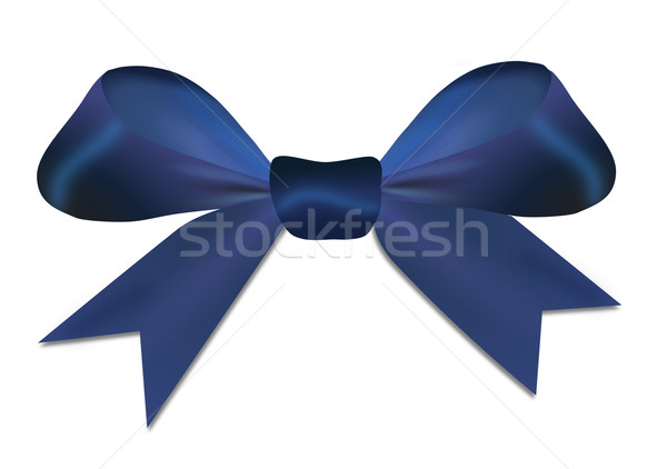Natal azul arco isolado branco amor Foto stock © impresja26
