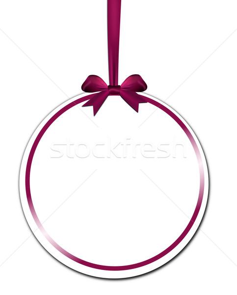 Dekoratif mor kırmızı yay beyaz Stok fotoğraf © impresja26