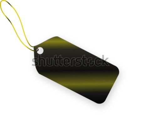Siyah etiket beyaz alışveriş altın kart Stok fotoğraf © impresja26
