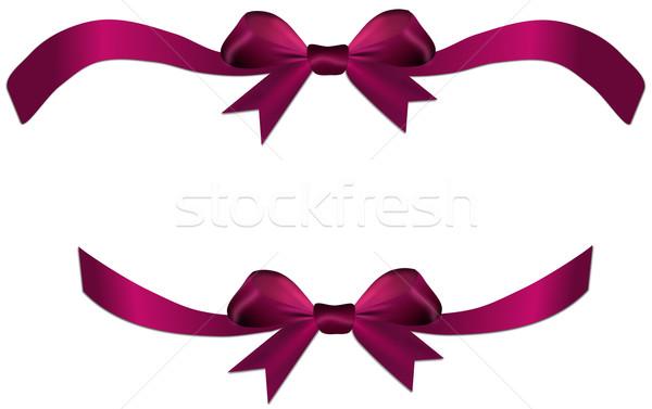 Violeta vermelho arco fita dom coração Foto stock © impresja26