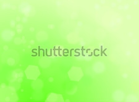 Light green natural background with bokeh and ray of lights Stock photo © impresja26