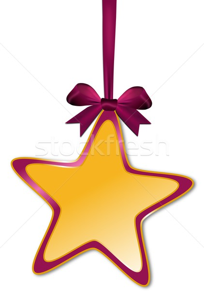 Decorative star with violet red bow Stock photo © impresja26