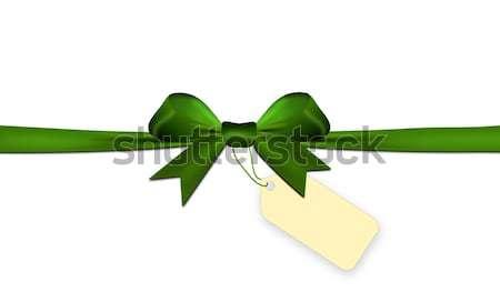 Verde isolado branco preço membro papel Foto stock © impresja26