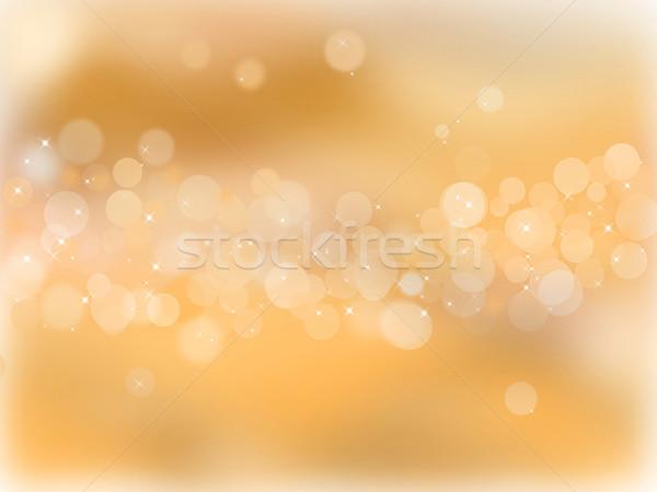 Dourado bokeh festa luz fundo arte Foto stock © impresja26