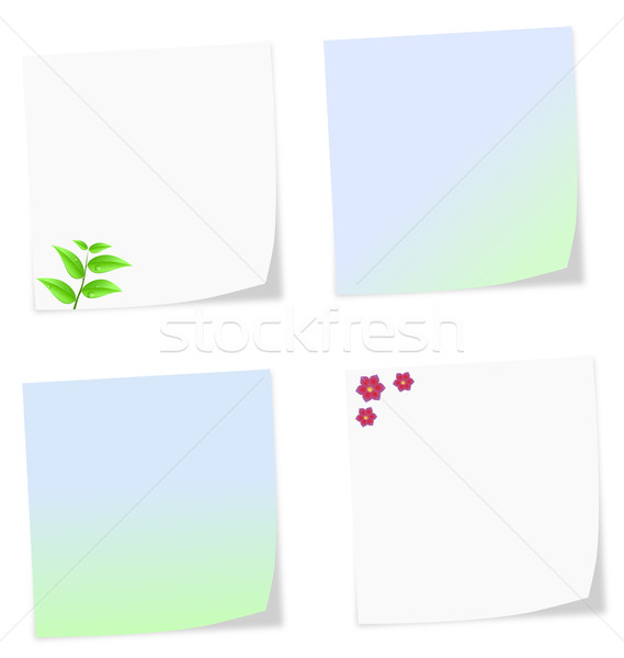 Yumuşak renkler notlar beyaz yalıtılmış ofis Stok fotoğraf © impresja26