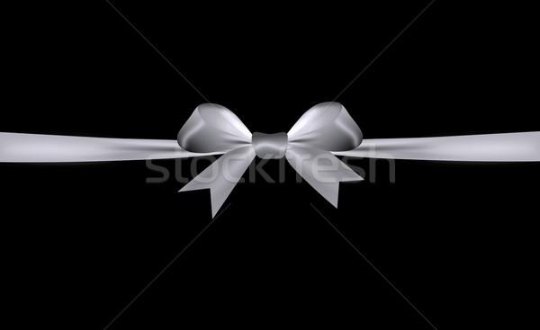 Argento arco nastro isolato nero Foto d'archivio © impresja26