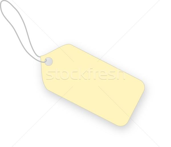 Bej etiket beyaz alışveriş altın kart Stok fotoğraf © impresja26
