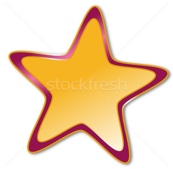 Decorativo estrela escuro vermelho dourado quadro Foto stock © impresja26