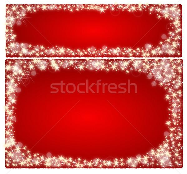 çerçeve kırmızı Yıldız mutlu ışık Stok fotoğraf © impresja26