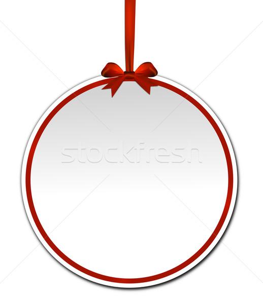Dekoratif kırmızı yay beyaz kâğıt parti Stok fotoğraf © impresja26