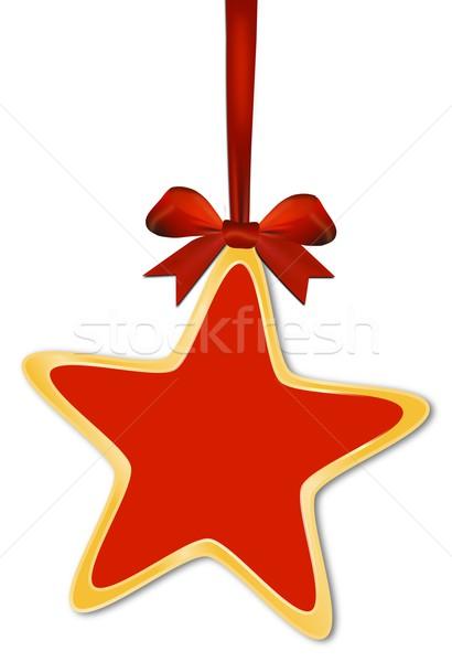 Decorative star with red bow Stock photo © impresja26