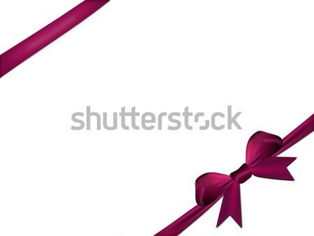 Violeta vermelho isolado branco papel festa Foto stock © impresja26
