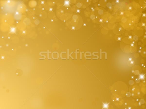 Parlak altın metin uzay doku ışık Stok fotoğraf © impresja26