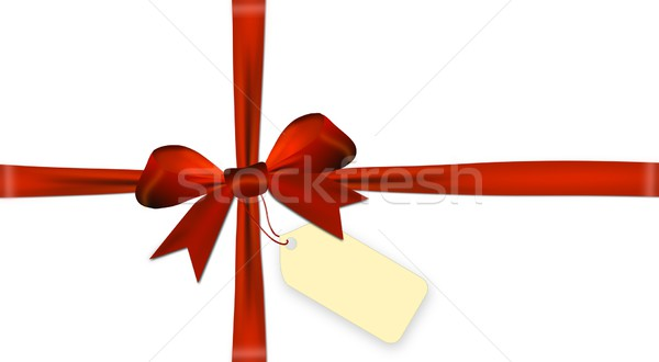 Vermelho arco isolado branco papel Foto stock © impresja26