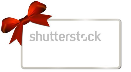 Christmas card with golden frame red bow Stock photo © impresja26