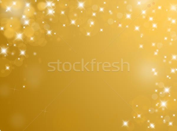 Brilhante dourado texto espaço textura luz Foto stock © impresja26