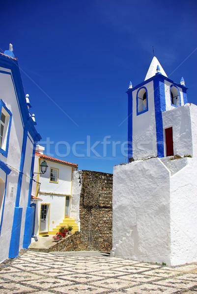 通り 村 ポルトガル 空 壁 ドア ストックフォト © inaquim
