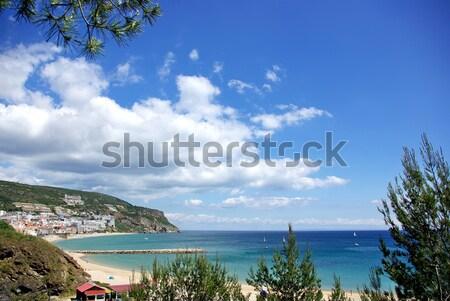 Portugália víz természet kék horizont domb Stock fotó © inaquim