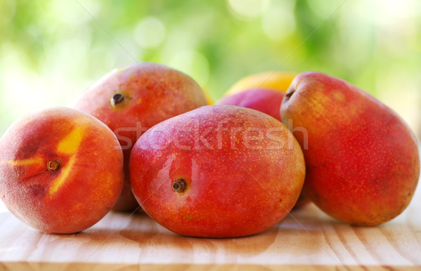 Pêssego manga pereira frutas comida fruto Foto stock © inaquim