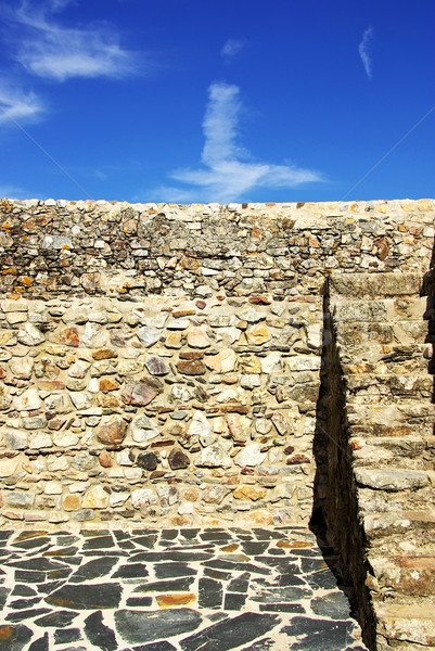 Parede construção casa fundo urbano castelo Foto stock © inaquim