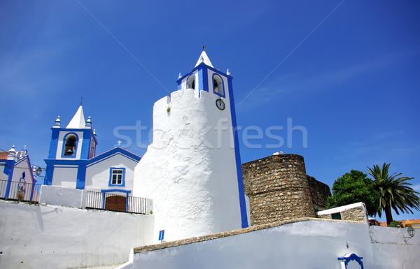 Church of Alegrete village, Portalegre, Portugal. Stock photo © inaquim