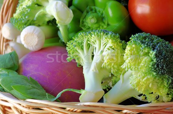 Sepet tok sebze gıda meyve sağlık Stok fotoğraf © inaquim