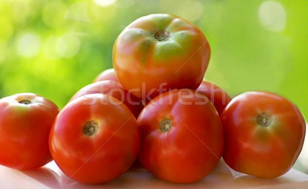 Vermelho tomates tabela comida verão mercado Foto stock © inaquim