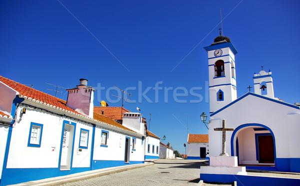 Aldeia região Portugal céu parede Foto stock © inaquim
