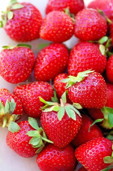 Fresco morango comida jardim saúde verão Foto stock © inaquim