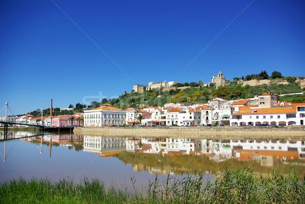 Tipik köy Portekiz manzara gökyüzü çim Stok fotoğraf © inaquim