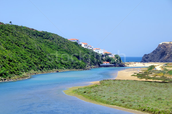 West coast of Portugal, Odeceixe beach Stock photo © inaquim