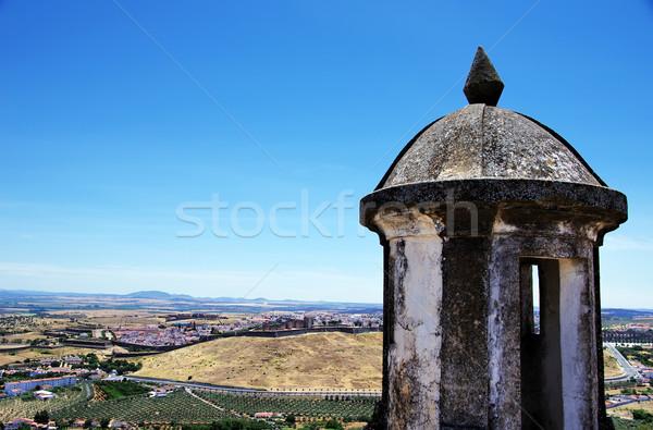 Fort panorama città Portogallo cielo costruzione Foto d'archivio © inaquim